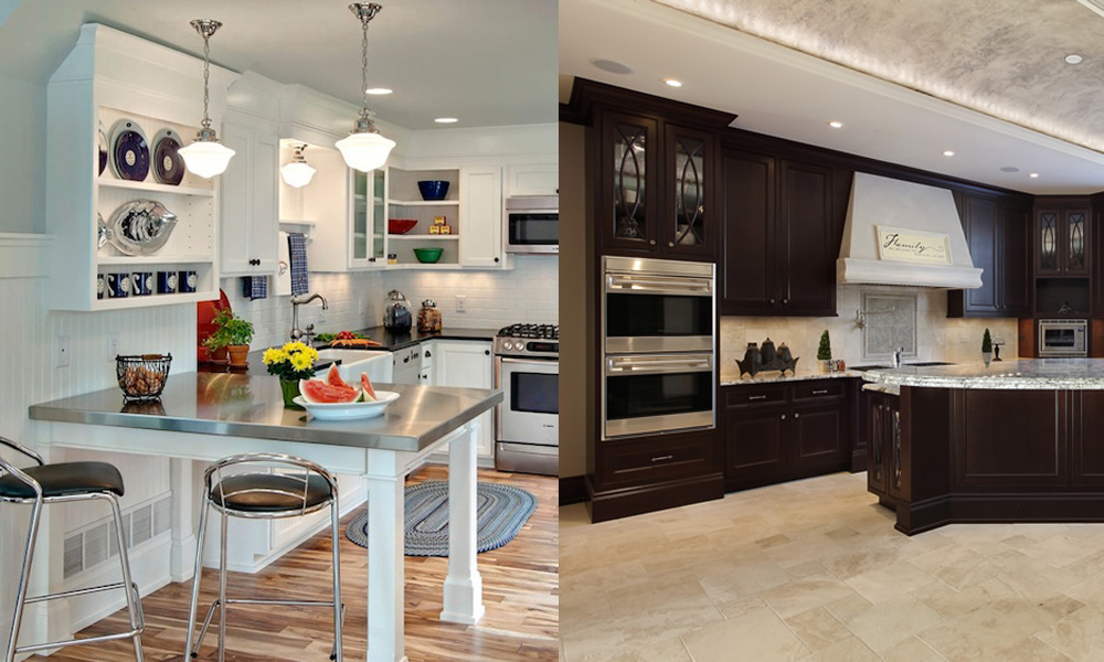 Small and Large Kitchen Comparison | Kitchens By Design