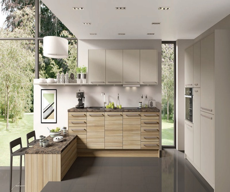 Modern Wooden Kitchen Designs: Modern Wood Grain Kitchens
